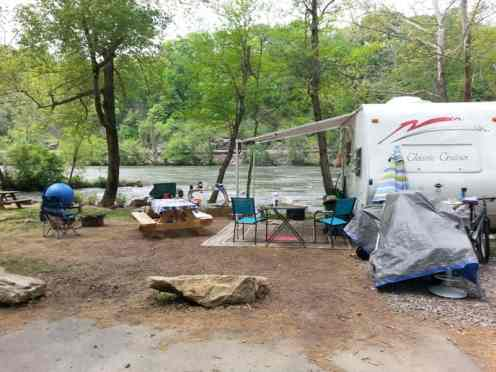 French Broad River Campground in Asheville North Carolina8
